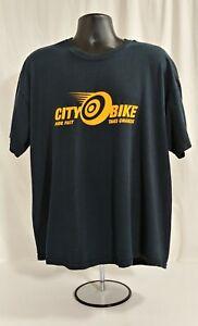 """CITY BIKE """"RIDE FAST TAKE CHANCES""""  Men's Motorcycle T-Shirt Black 2XL"""