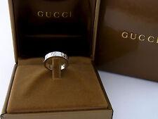 Gucci Icon Ring 18 kt Weißgold 5 Diamanten Diamond Ring 0.22 ct Gr. 49 mit Box