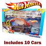 Hot Wheels Stunt & Go Hauler Truck Transporter Truck + 10 Die Cast Cars