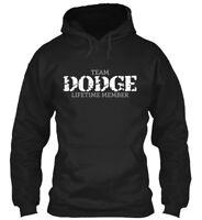 Team Dodge { } Gildan Hoodie Sweatshirt