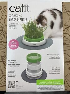 Catit Senses 2.0 Grass Planter with Grid Cover - NEW
