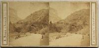 Brunnen Suisse Foto Braun Vintage Albumina Ca 1860