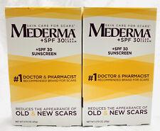 (2) Mederma Scar Cream + SPF 30, 0.07oz  (READ DESCRIPTION PLEASE)