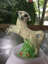 Vintage Ceramic Pottery Lamb Sheep Prancing Figure Newport England Easter