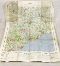 1961 Vintage Militär Map Of Exeter Honiton Exmouth Teignmouth Dawlish