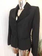 NEXT Black Mix Suit Blazer Jacket Size 10 Ladies RP Work Office