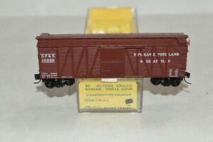 N scale Micro-Trains Line Kadee Spokane Portland & Seattle Ry 40' box car train