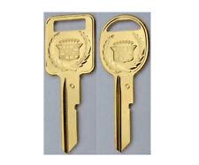 Eldorado Original NOS Gold Cadillac Crest Wreath Key Set B42C & B43D