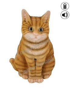 ♦ Deko-Figur Katze ♦ ✔ echt wirkend ✔ Bewegungssensor ✔ Ein- & Ausschalter