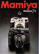 MAMIYA 7 II CATALOG/BROCHURE (ORIGINAL PRINT JAPAN)  ((( 4 languages to pick )))