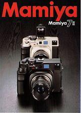 MAMIYA 7 II CATALOG/BROCHURE (ORIGINAL PRINT JAPAN)  ((( 4 languages to pick )))