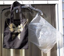 NWT NIP Marc Jacobs Black Gold Bow Ribbon Cotton Tote Canvas Bag Shopper