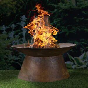 Feuerschale Rost Rostoptik Eisen Braun Garten Feuerkorb Feuerstelle 50 cm