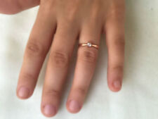 10k solid gold Ring- Rose gold ring, Gold Solitaire ring,Handmade  fine rings