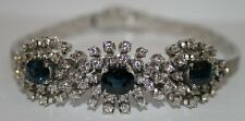 76 Diamanten 3 große Saphire Armband 14Kt 585 er Weißgold Gutachten EDEL
