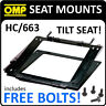 HC/663 OMP RECLINING SEAT MOUNT FOR RACE/RALLY/BUCKET SEATS WITH FREE BOLTS!