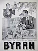 PUBLICITÉ DE PRESSE 1935 APPÉRITIF BYRRH - LA JALOUSIE - GEORGES LEONNEC