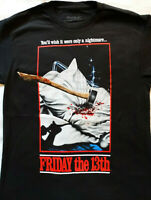 Friday the 13th Jason Voorhees Axe Cover Horror Movie T-Shirt