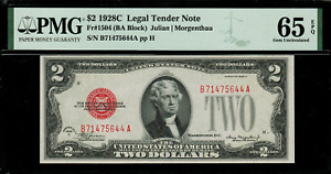 1928C $2 Legal Tender FR-1504 - Graded PMG 65 EPQ - Gem Uncirculated
