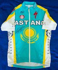 GENUINE SIGNED ALBERTO CONTADOR 2010 TEAM ASTANA AUTOGRAPHED CYCLING JERSEY