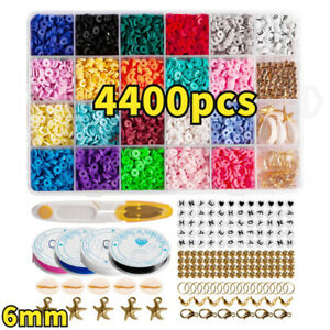 1Set Flat Polymer Clay Beads Spacer for DIY Bracelets Jewelry Making Finding