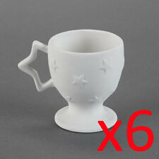 Ceramic Bisque Ready to Paint Your Own Pottery Kids Star Coffee Mug X 6