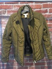 H&M Vivid Olive Green Long Sleeve Full-Zip Quilted Jacket 6