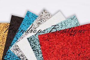 Chunky Glitter Fabric premium A4 24 cm x 30 cm sheets Crafts Hair Bows Decor