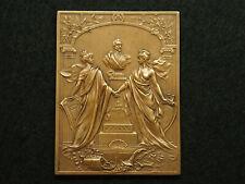PLAQUE BRONZE H.ALLOUARD 1909 MONUMENT GENERAL JOSE de SAN MARTIN BOULOGNE /MER