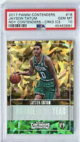 /25 POP 3 PSA 10 RC Jayson Tatum 2017-18 R.O.Y Contenders CRACKED ICE #18 Rookie
