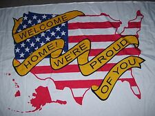 "Soldier welcome home nylon flag 3 X 5 foot ""We're proud of you"" Military banner"