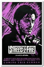 STREETS OF FIRE - 1984 orig 27x41 movie poster- RARE Purple Advance MICHAEL PARE