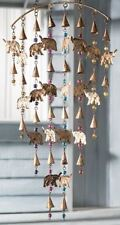 Hand Crafted Elephant Wind Chime Mobile With Mixed Beads
