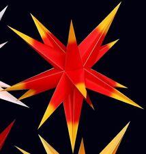 55cm Adventsstern rot/gelb Außenstern außen Stern wetterfest Outdoor wetterfest