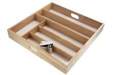 Beechwood Cutlery Tray Kitchenware Cutlery Storage Drawer Holder Kitchen Utensil
