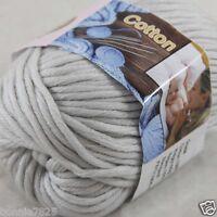 Sale New 1 Skein x 50g Soft 100% Cotton Chunky Super Bulky Hand Knitting Yarn 37