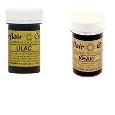 Sugarflair Paste Gel Edible Food Colouring Colours Icing - Lilac & Khaki
