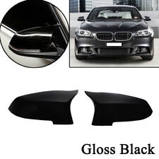 Pair For BMW F10 F11 2014-2017 LCI Glossy Black Door Side Mirror Cover Trim Caps
