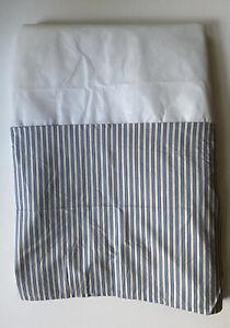 Lauren Ralph Lauren Home Cottage Blue Ticking Stripe Box Pleat Bed Skirt ~ QUEEN