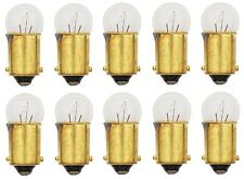 10x 53 Light Bulb Miniature Gauge Cluster Instrument Panel 12v T3-1/4 BA9S Lot