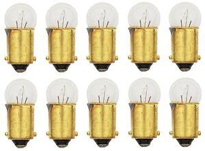 10x 53 Light Bulb Miniature Gauge Cluster Instrument Panel 12v T3-1/4 BA9S Lot