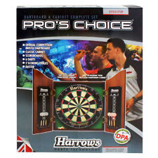 Harrows Pros Choice Dartboard & Cabinet Complete Set Darts Pool Room Outdoor