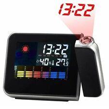 Reloj Despertador estación Meteorológica Proyector Digital LCD/LED, Termómetro, Higrómetro