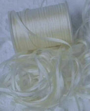 EMBROIDERY RIBBON 100%PURE SILK  NAT/WHITE COLOR  2MM 25 YD SPOOL