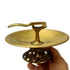 Vintage Old Plate Inside It Nutcracker Walnut Engraved Copper Horoscope Peace