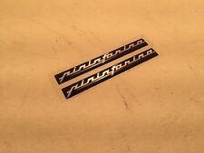 Pininfarina Emblem Set 10mm X 100mm Black with Chrome Letters NEW (#F-17)