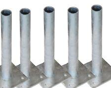 5 Pfosten-träger Halter geschraubt f. Ø 34 mm Rundpfosten Maschendraht-pfosten