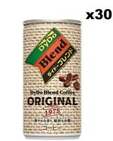 DyDo Blend Coffee, Original, 185ml (Pack of 30), Product of Japan