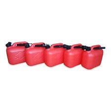 5 x 5 Liter Dieselkanister Benzinkanister UN-Zulassung rot inkl. Ausgießer NEU