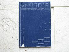 Manuale d'uso GRUNDIG VIDEO RECORDER vs 901 VPT
